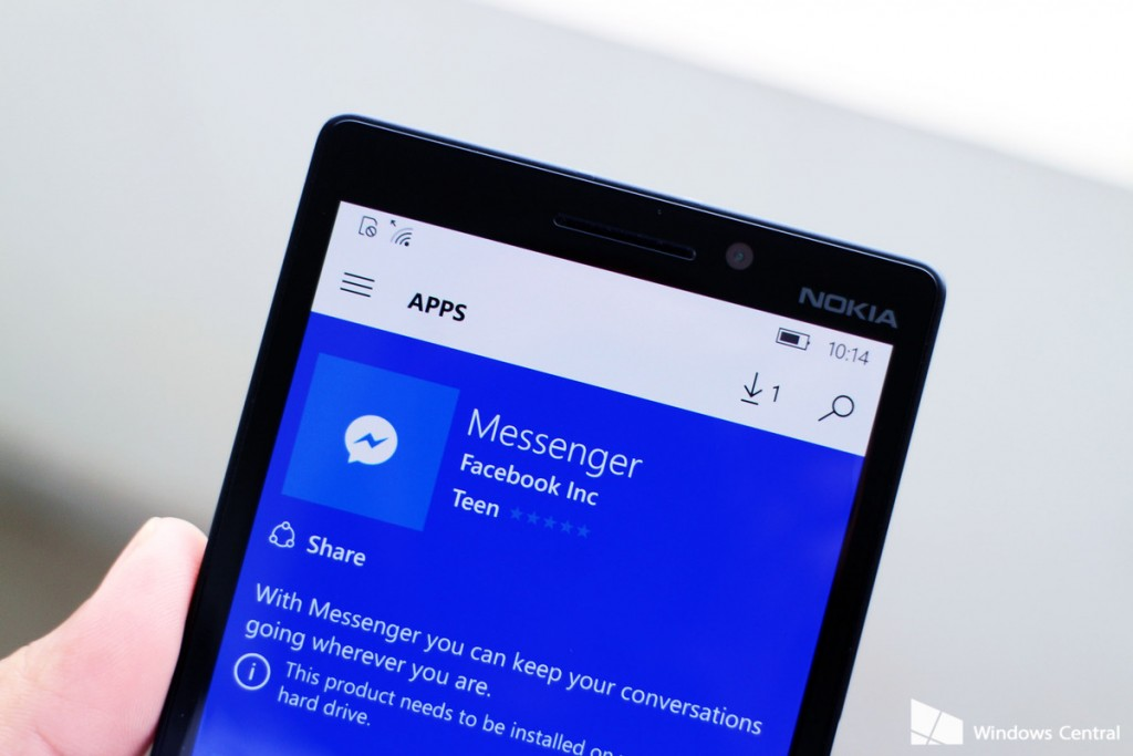 Facebook Messenger for Windows 10 Mobile - Blogavenger