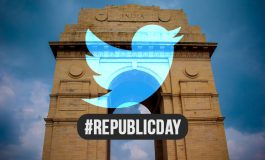 Republic Day with India Gate Emoji is commemorated on Twitter