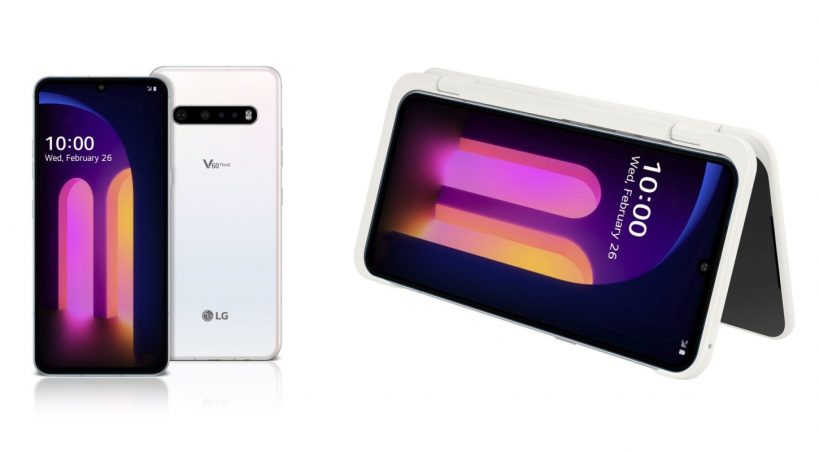 ThinQ surface online with LG V60